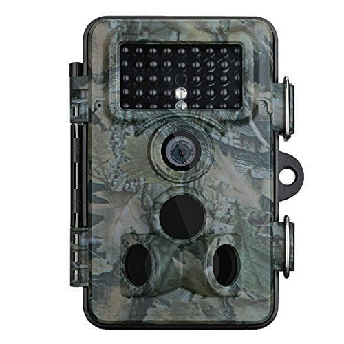 VicTsing Tail Camera, 12MP Game Camera 1080P HD Night Vision Camera IP66 Waterproof Outdoor Camera Low Glow 2.4 inch LCD Screen Infrared Wildlife Camera for Hunting & Security Video Cam