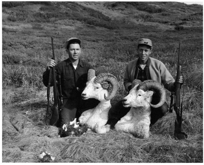 Hunters with Dall Ram heads - Hunting Magazine